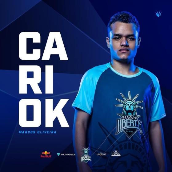 Cariok jogou pela Havan entre dezembro de 2018 e maio de 2020 | Foto: Havan Liberty/Reprodução - League of Legends
