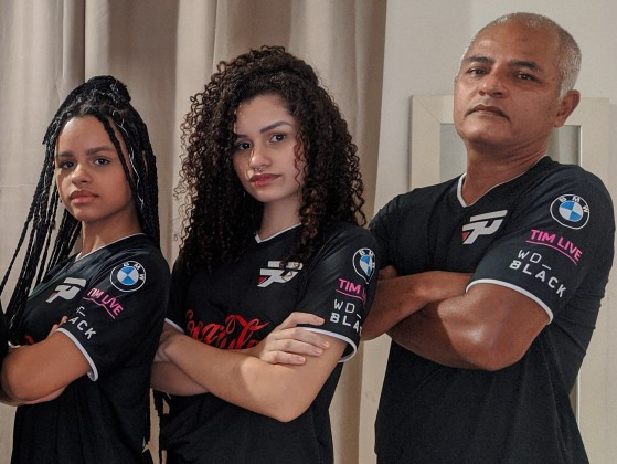 Juliana, Lorrany e Marcos | Foto: Twitter/Reprodução - League of Legends