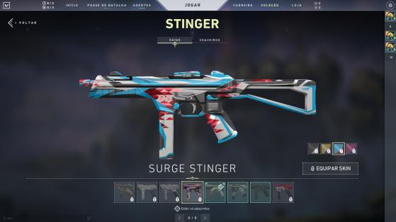 Surge Stinger com cores variadas - Valorant