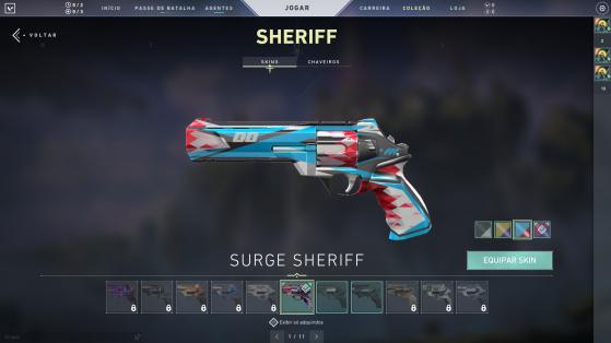 Surge Sheriff com cores variadas - Valorant