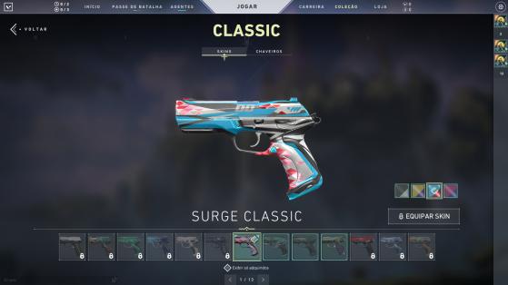 Surge Classic com cores variadas - Valorant