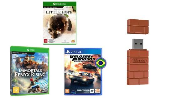 Games e acessórios com até 35% de desconto na Amazon