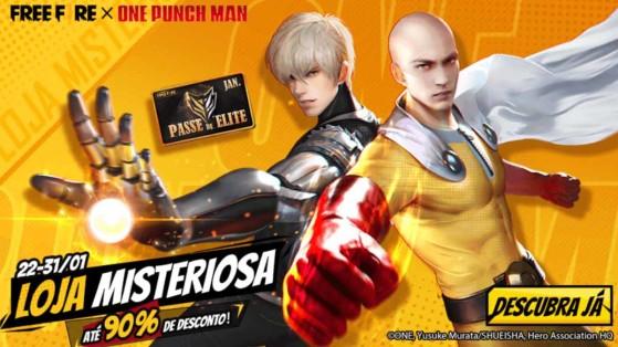 Free Fire x One Punch Man: Skins Genos e Careca de Capa chegam à Loja Misteriosa