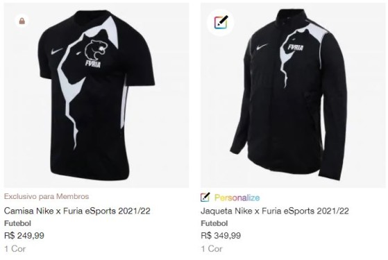 Camisa e casaco da FURIA na loja da Nike - Counter-Strike: Global Offensive