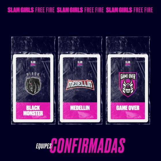 Black Monster, Medellin e Game Over — Foto: GrandSlam Championship - Free Fire
