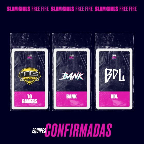 TG Gamers, Bank e BDL  — Foto: GrandSlam Championship - Free Fire
