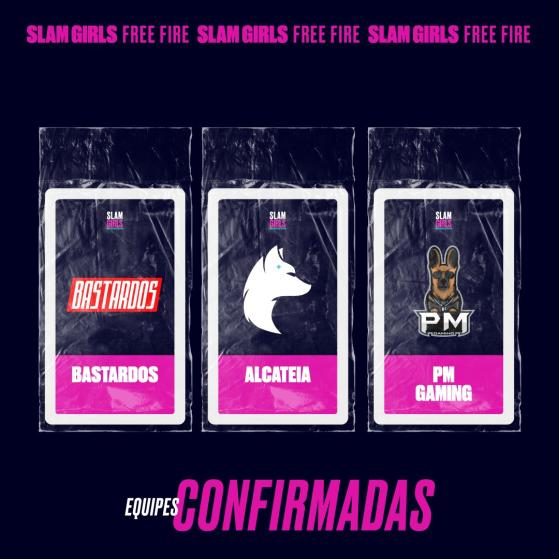 Bastardos, Alcateia e PM Gaming — Foto: GrandSlam Championship - Free Fire