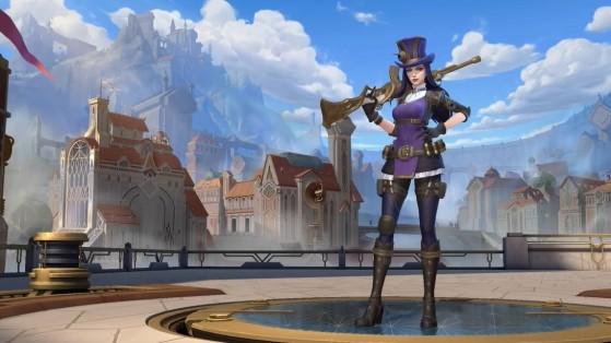 O visual de Caitlyn em Wild Rift, apontando para uma possível atualização da campeã no LoL de PC | Riot Games/Reprodução - Wild Rift