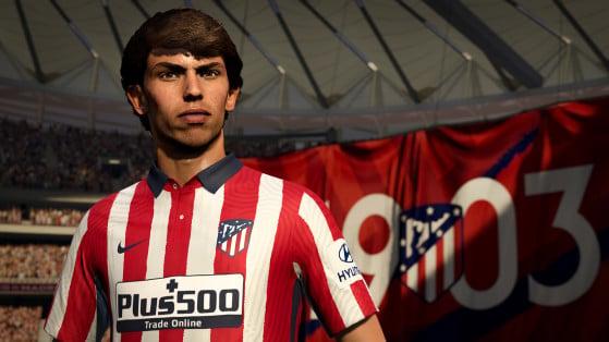 Velocidade, habilidade boa finalização de João Félix permitem ao jogador atuar em esquemas como o 5-2-1-2 - FIFA 21