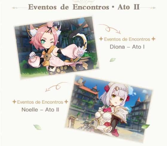 Eventos de Encontro com Diona e Noelle - Genshin Impact