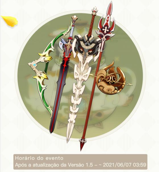 Itens do Passe de Batalha Outro Reino - Genshin Impact