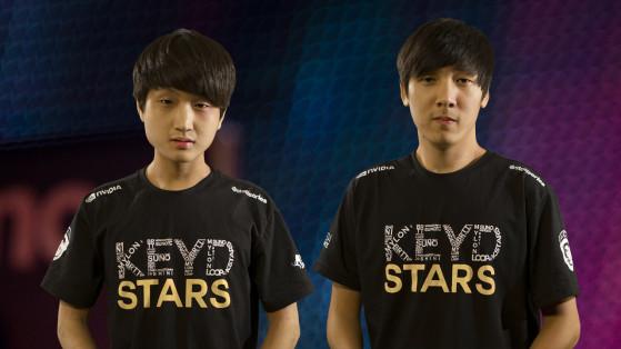SuNo na esquerda, Winged na direita. Reprodução: Keyd Stars - League of Legends