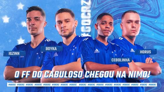 Free Fire: Cruzeiro fecha parceria com a Nimo TV