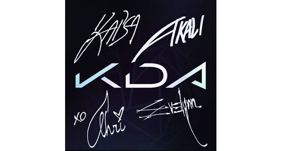 Ícone autógrafo K/DA ALL OUT - League of Legends