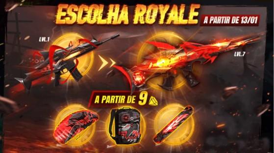 Free Fire: Scar Megalodonte chega ao Escolha Royale