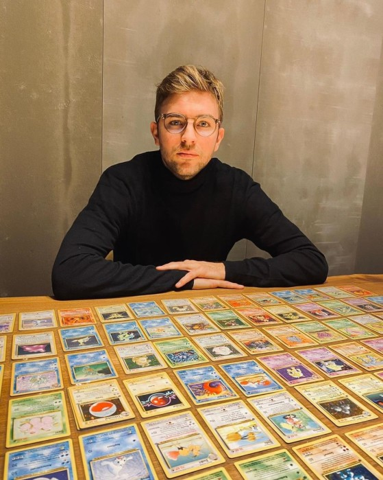 Kramer e sua coleção de cartas de Pokémon |Foto: Instagram/Reprodução - Pokémon GO
