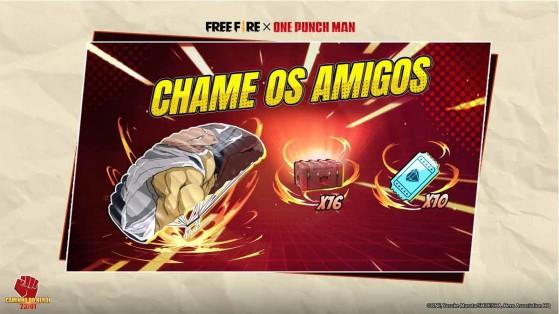 Free Fire x One Punch Man: Como ganhar o paraquedas temático de Saitama
