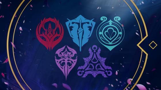 Brasões Fundamentais de Ixtal, Eos, Schema, Calamita e Aurai   Foto: Riot Games/Reprodução - League of Legends
