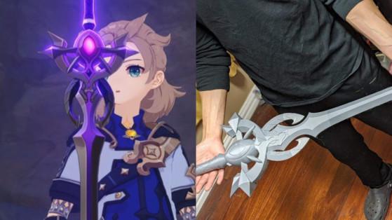 Genshin Impact: Jogador faz modelo da Espada Pútrida em impressora 3D