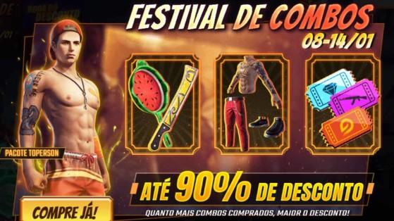 Free Fire: Evento Festival de Combos dá descontos de até 90% em skins