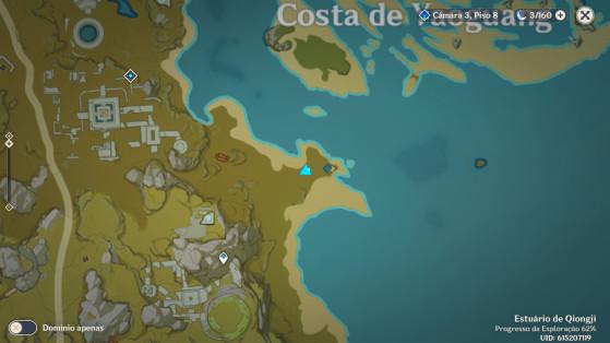 Localização no mapa - Genshin Impact