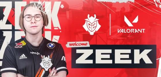 Valorant: G2 anuncia contratação de Zeek, ex-jogador profissional de Fortnite