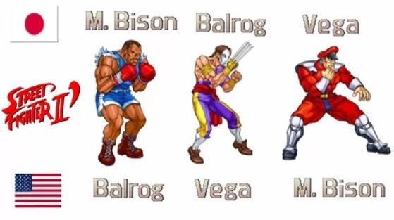 Chefões de Street Fighter II tiveram nomes trocados - Jogos de Luta