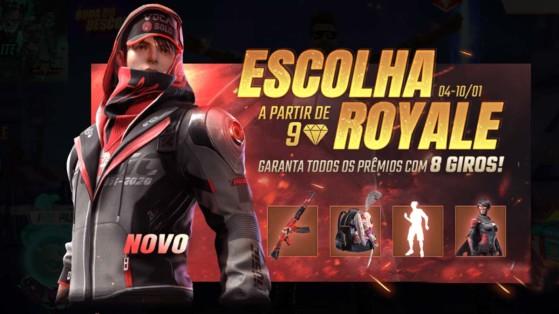 Free Fire: Estrondo Sônico é o novo pacote do Escolha Royale