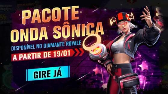 Free Fire: Novo Diamante Royale traz pacote Onda Sônica