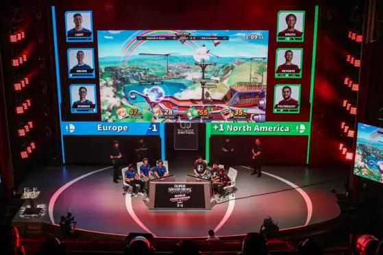 Time Europa e América do Norte se enfrentam nas finais do Super Smash Bros. Ultimate World Championship no último sábado (8) | Foto: Nintendo/ Reprodução - Millenium