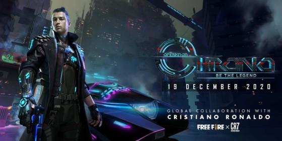 Free Fire: Operação Chrono traz Cristiano Ronaldo, nova arma, minigame e mais