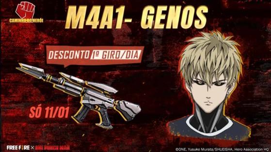 Free Fire x One Punch Man: M4A1-Genos está disponível no Sorte Royale