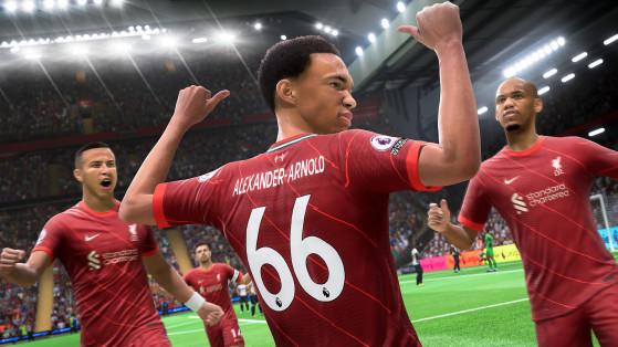 Jogadores velozes, como Alexander-Arnold, se beneficiarão muito do recurso aceleração explosiva (Foto: Divulgação/EA Sports FIFA) - FIFA 21
