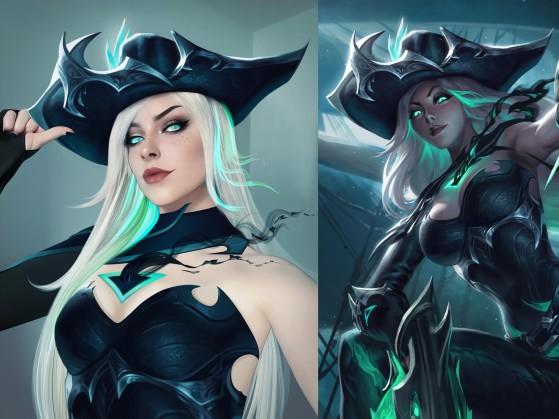 Ehri com cosplay digital de Miss Fortune Destruída | Foto: Riot Games/Reprodução - League of Legends