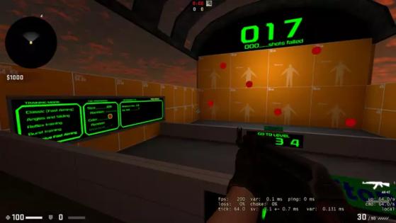 Training Aim CSGO. Foto: Reprodução - Counter-Strike: Global Offensive