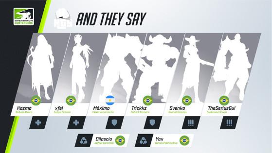 A And They Say venceu na segunda etapa desta temporada e chegou às semifinais de todas as quatro. | Imagem: Blizzard/Reprodução - Overwatch