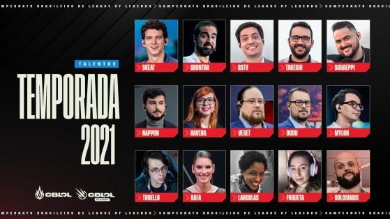 Equipe de talentos do CBLoL 2021|Foto: Riot Games Brasil/Reprodução - League of Legends