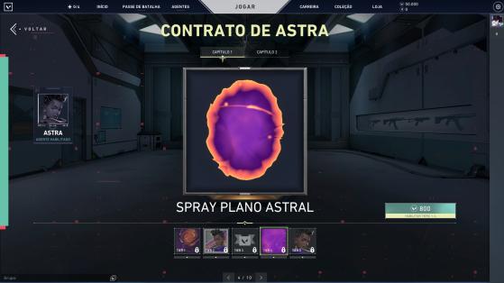 A primeira parte do contrato de Astra - Valorant