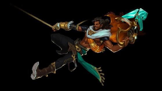 Akshan estará a meio caminho entre os atiradores e os campeões com mais rebatidas. - League of Legends