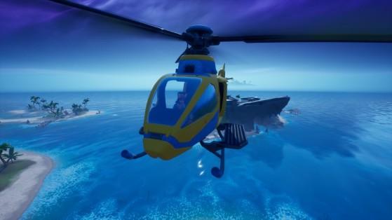 Fortnite: Pouse no Tubarão e Visite a Agência em uma única partida