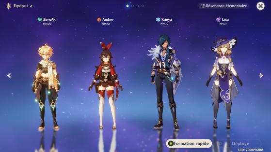 Quatro personagens são disponibilizados apenas por avançar na história. - Genshin Impact