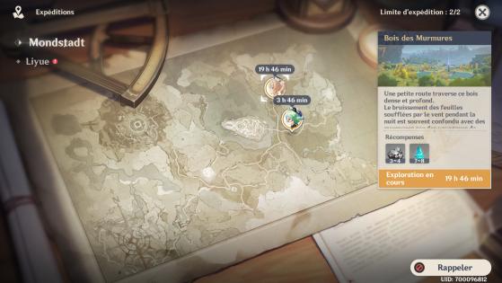 Vale lembrar que os personagens mandados em Expedições não podem ser usados pelo jogador enquanto nas missões. - Genshin Impact
