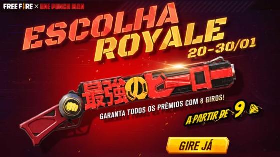 Free Fire: M1887 One Punch Man chega ao Escolha Royale