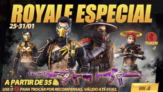 Free Fire: Royale Especial traz pacotes Cronos, Réia e mais
