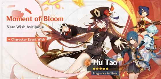 Banner do momento de floração: Hu Tao - Genshin Impact