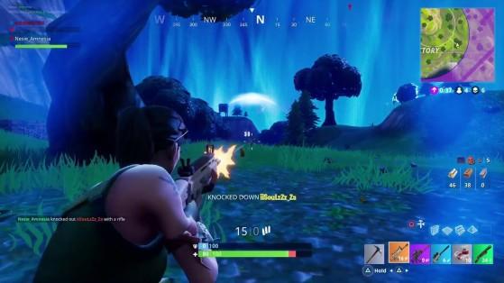 A tempestade está se aproximando dos últimos jogadores do jogo - Fortnite Battle Royale