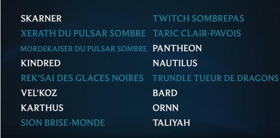 A lista das próximas skins - League of Legends