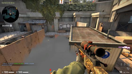 O que você enxerga no pezinho olhando para o esgoto - Counter-Strike: Global Offensive