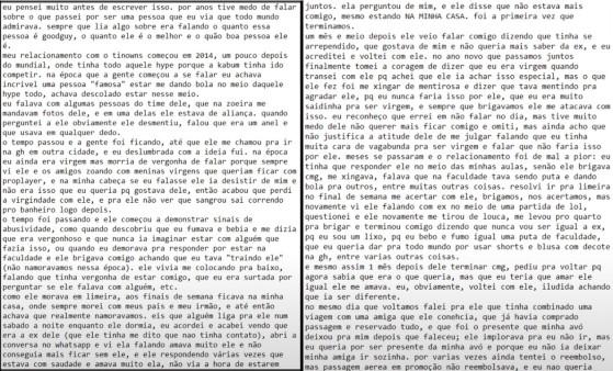 Thays Toledo optou por trancar o perfil por segurança própria e esta é a parte 2 do relato - Millenium