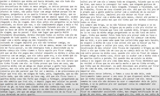 Thays Toledo optou por trancar o perfil por segurança própria e esta é a parte 4 do relato - Millenium